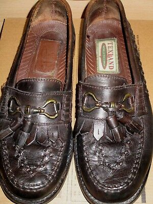 Mens Leather Moccasin Shoes Size 8
