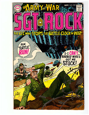 OUR ARMY AT WAR #223 in FN- condition 1970 DC WAR comic w/ SGT ROCK