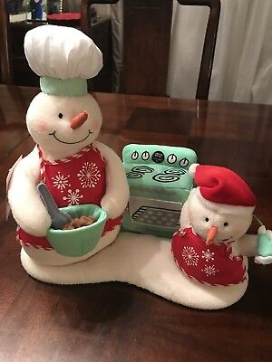 Hallmark Jingle Pals Snow Chefs Rare Canadian Exclusive Musical Snowman