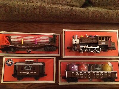 Lionel 4 pc. Gingerbread Train Only 18790, 25927, 26470, 26471 New in Boxes!
