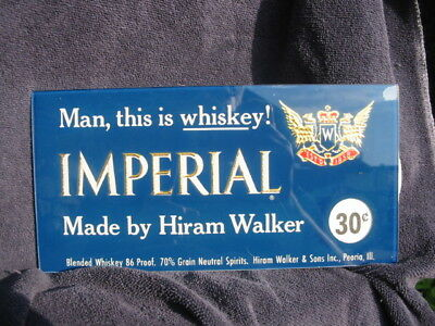 1950's Imperial Whiskey 10 X 5 Reverse on Glass ROG NOS New Old Stock