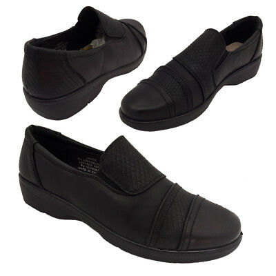Ladies Shoes Lorella Janice Black Slip on Comfort Work Shoes Size 6-10 NEW