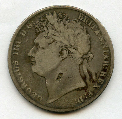 Great Britain 1824 King George Iv Half Crown,scarce Toned Choice Fine.