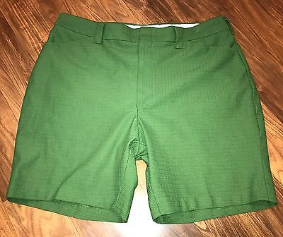 Vtg 50s 60s Mens size 38 Green 100% POLYESTER Knit Mod Rockabilly retro shorts