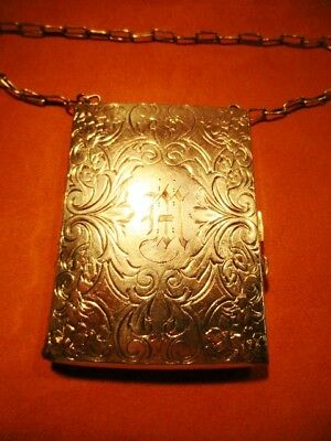 Engraved Art Deco Silver Plated Dime A Dance Opera Coin Cocktail Compact Purse