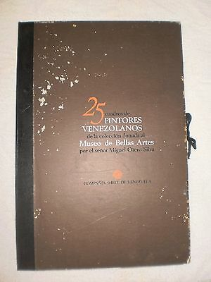 Book- 25 Pintores Venezolanos by SHELL of Venezuela 23/25 Missing 2 Reproduction