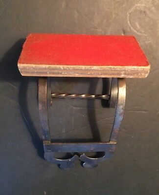 Vintage / Antique Church Shelf Pew Shelf ? Stamped ( MADE IN ITALY )