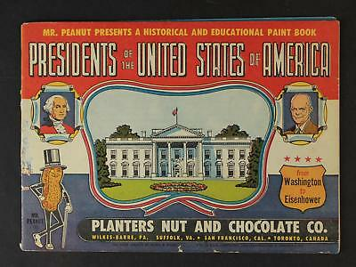 1953 Planters Peanuts Presidents Of The Untied States Of America Advertising Bk
