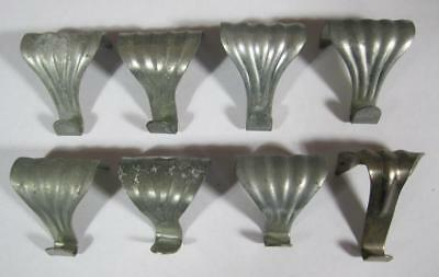 Vintage/antique-style silver painting/picture rail hanging hooks x 8