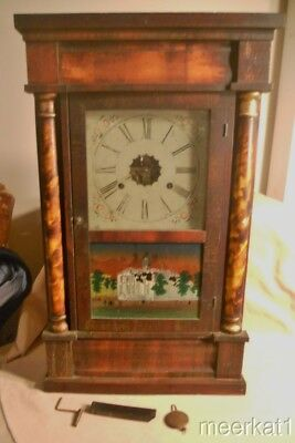 Antique E.n. Welch Ogee Og Clock To Restore - Half Columns, Albany Capital Pic