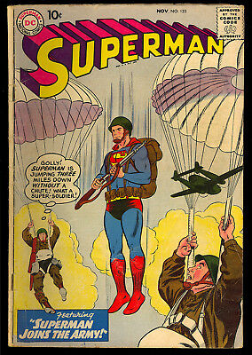 Superman #133 Nice Unrestored Silver Age DC Comic 1959 VG-