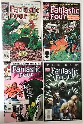 FANTASTIC FOUR LOT OF 4- #264,279, Marvel Index & The End #1-Dr.Doom-Marvel-F