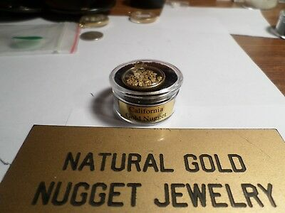 24 K Gold Filled Pendant with 1/2 Gram of small 16 Mesh CA Nuggets/Pickers.