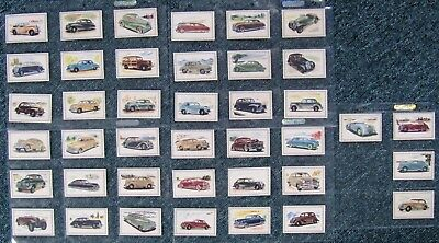 1940s  Malties Confectionary Cards:  MOTOR  CARS  (Set of 40)  EXCELLENT
