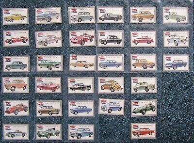 1958  Ampol Petrol Trade Cards:  CARS  OF  TODAY  (set of 32)