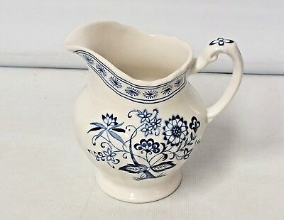 J & G Meakin NORDIC jug, Meakin milk jug blue and white - 11.5cm tall