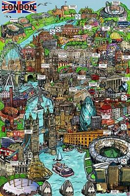 London Sketch : Landmarks - Maxi Poster 61cm x 91.5cm new and sealed