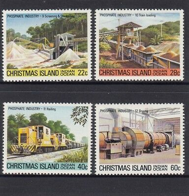 CHRISTMAS Island 1981 Phosphate MINING INDUSTRY set of 4 MNH -.