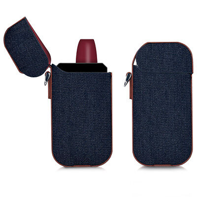 Bag Case For Iqos Pocket Charger Denim Case Synthetic Leather Protective Case