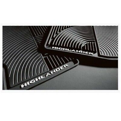 Fits Toyota Highlander 2008-2013 Set of 4 All Weather Mats Black Genuine