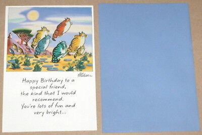 "1984 Ambassador / B. Kliban Kats ""Happy Birthday"" Cats Greeting Card w/ Envelope"
