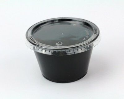 Disposable 4oz Plastic Condiment Cups with Lids, Sample Cup, Jello Shot Cups,...
