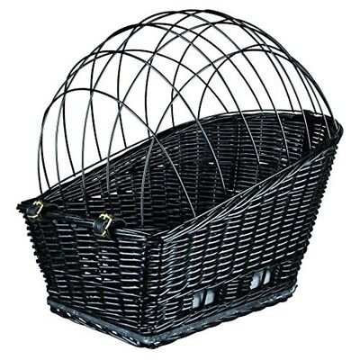 Trixie Bicycle Basket For Carrier, With Lattice, 35x49 55cm, Black - Lattice