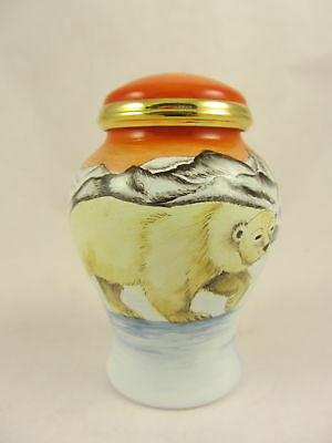 MOORCROFT ENAMELS Polar Bears Ginger Jar Urn 1st/Best Quality Boxed