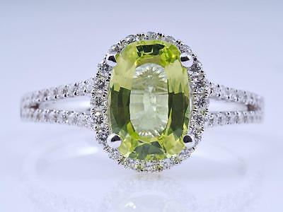 Ring 2,44 Karat Brillanten Chrysoberyll 750 Gold 18 Karat IGI Expertise