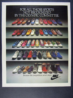 1984 Nike Shoes 53 Casual Athletic shoe photo vintage print Ad
