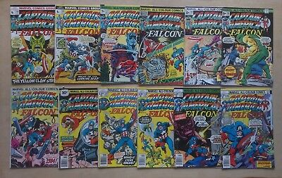 JOB LOT 12 x CAPTAIN AMERICA #165,166,177,178,184,188,195,198,215,218,219,220