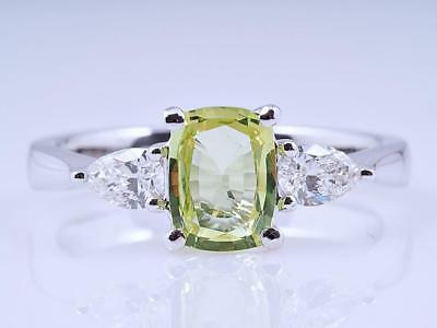 Ring 1,35 Karat Diamanten Chrysoberyll 750 Gold IGI Expertise