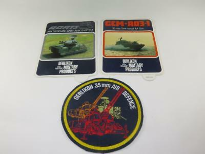 STICKERS & CLOTH PATCH Oerlikon Military Products