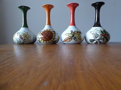 Lorna Bailey 1999 Set Of 4 Seasons Vases Limited Edition (82/250). Excellent