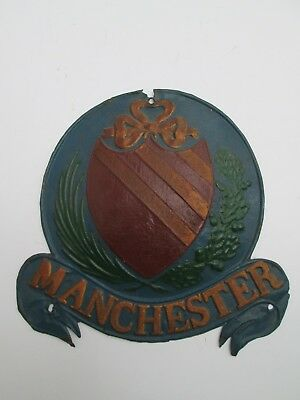 FIREMARK PLAQUE TIN MANCHESTER FIRE ASSURANCE Co 1824-1904 FIRE MARK ISSUED 1830