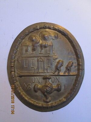 Firemark Plaque Union Fire Office Replica Brass Porters Badge Fire Mark