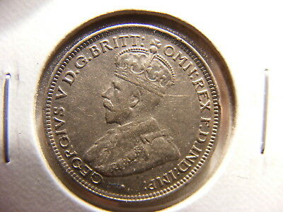 British West Africa Silver 6 Pence, 1913, XF, KM#11