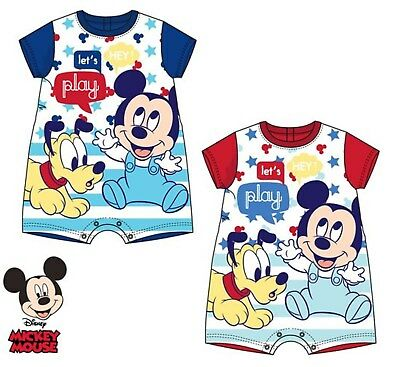 Disney Baby Mickey Mouse Pluto Toddlers Body Romper Play suit 6m,12m,18m,24m