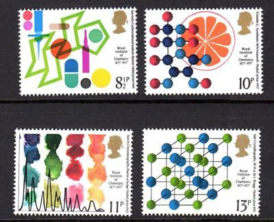 1977 GB ROYAL INSTITUTE of CHEMISTRY SG 1029 - 1032 MNH Stamp Set Unmounted Mint