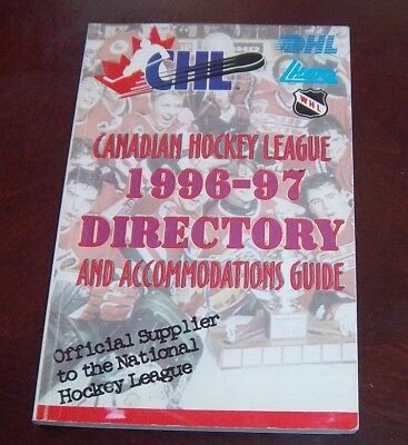 Canadian Hockey  League 1996-97 directory and Accommodations Guide
