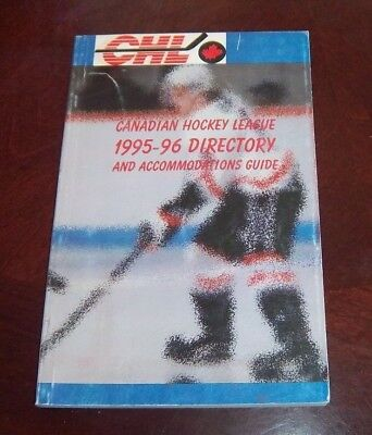 Canadian Hockey  League 1995-96 directory and Accommodations Guide
