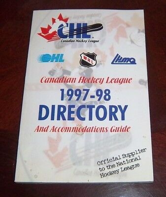 Canadian Hockey  League 1997-98 directory and Accommodations Guide
