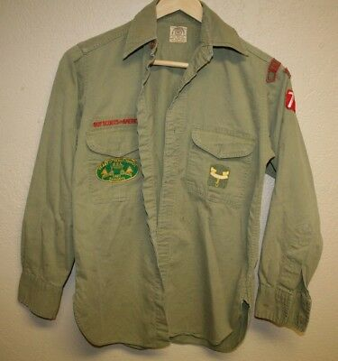 VINTAGE BOYS BSA Boy Scouts of America Uniform Relic Antique Shirt Texas Camp