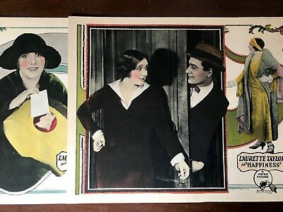 Lot Of 2 Lobby Cards  Laurette Taylor Happiness 1924