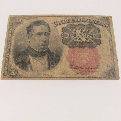1874 Ten Cent Note Fractional Currency Red Seal Fifth Issue 600653