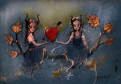 Acrylic Painting Cupids Heart Its All Ours Maleficent Maidens Blackseyepoppy