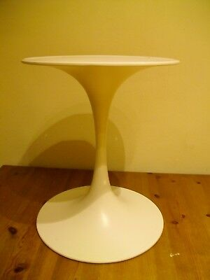 """A Classic Vintage Arkana 12"""" White Tulip Table from 1960s- Base Only"""