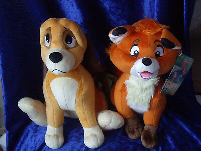 Fox and the Hound Copper and Tod Soft Toys Disney plush new with tags cub puppy