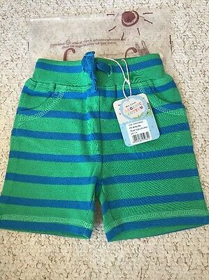 NEW Frugi Organic Cotton Stripy Shorts 0-3Mths BNWT New Baby Gift Boy Girl Cloth