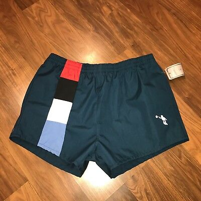 NEW Vtg 70s 80s Mens MEDIUM Striped Cougar Retro running Track gym SWIM shorts M